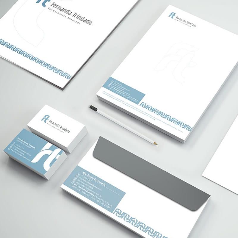 Agência de Comunicação Visual em BH | Serviço de Criação de Papelaria - Dra. Fernanda Trindade