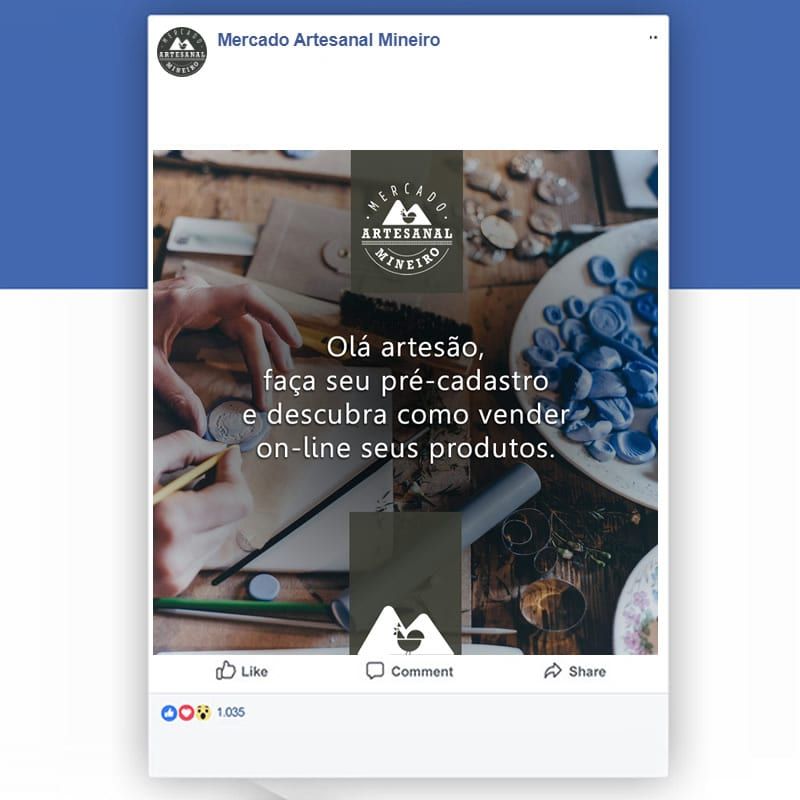 Agência de Marketing Digital em BH | Gerenciamento de Mídias Sociais - Criação de Artes para Posts - Mercado Artesanal Mineiro